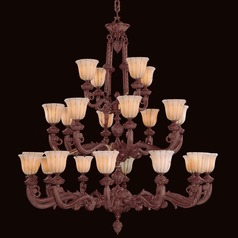 Crystorama Hot Deal 3-Tier 24-Light Chandelier in Bronze