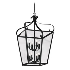 Sea Gull Lighting Lockheart Blacksmith LED Pendant Light with Square Shade