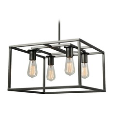 Industrial Edison Bulb Pendant Light Graphite 17-Inch by Kenroy Home Lighting