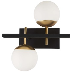 George Kovacs Alluria Weathered Black W/autumn Gold Sconce