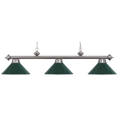 Modern Billiard Light in Satin Nickel Finish