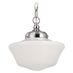 10-Inch Retro Style Schoolhouse Mini-Pendant Light with Chain