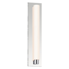 Sonneman Lighting Tubo Polished Chrome LED Sconce