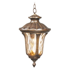 Livex Lighting Oxford Moroccan Gold Outdoor Hanging Light