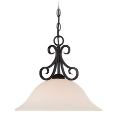 Designers Fountain Addison Oil Rubbed Bronze Pendant Light with Bowl / Dome Shade