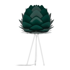 UMAGE White Table Lamp with Forest Metal Shade