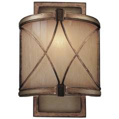 Minka Lighting, Inc. Sconce with Beige / Cream Glass in Aston Court Bronze Finish 4740-206
