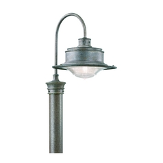 Antique Pressed Prismatic Glass Post Light Galvanize Troy Lighting