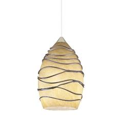 Onyx stone low voltage mini pendant dpend mf p52 amo 78in bp12 bzc wrapped art glass low voltage mini pendant aloadofball Gallery