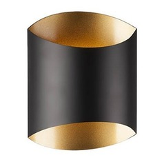 Kuzco Lighting Flat Black W/gold LED Sconce