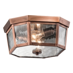 Kichler Lighting Rochdale Antique Copper Close To Ceiling Light