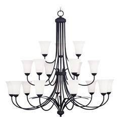 Livex Lighting Ridgedale Black Chandelier