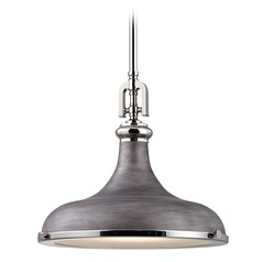 Farmhouse Barn Light Polished Nickel / Zinc Rutherford by Elk Lighting