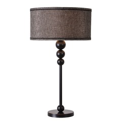 Kenroy Home Margot Oil Rubbed Bronze Table Lamp with Drum Shade