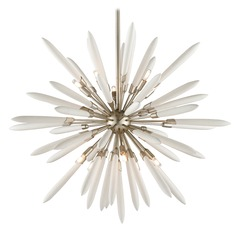 Corbett Lighting Altitude Modern Silver Leaf Pendant Light