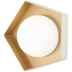 George Kovacs Five-O Textured White W/gold Leaf LED Sconce