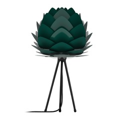 UMAGE Black Table Lamp with Forest Metal Shade