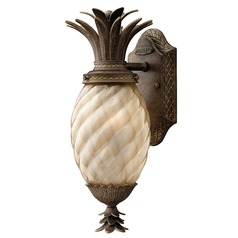 14-Inch Pearl Bronze Pineapple Outdoor Wall Light