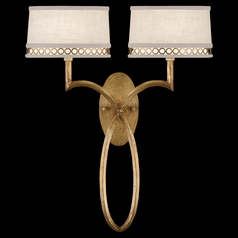 Fine Art Lamps Allegretto Gold Burnished Gold Leaf with Subtle Brown Highlights Sconce