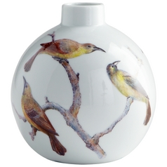 Cyan Design Aviary White Vase