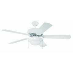 Craftmade Pro Builder 209 White Ceiling Fan with Light