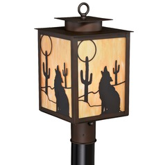 Calexico Burnished Bronze Post Light by Vaxcel Lighting