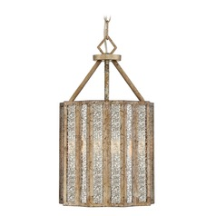 Old World Mercury Glass Pendant Light Gold Shrine by Quoizel Lighting