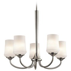 Kichler Aubrey 5-Light Chandelier in Brushed Nickel