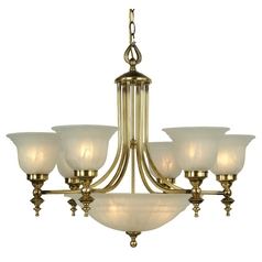 Dolan Designs Lighting Nine-Light Chandelier 665-18