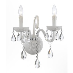 Crystorama Lighting Envogue Wet White Sconce