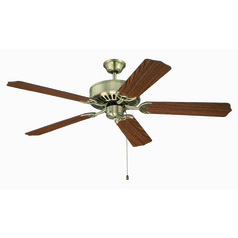 Craftmade Pro Builder Antique Brass Ceiling Fan Without Light