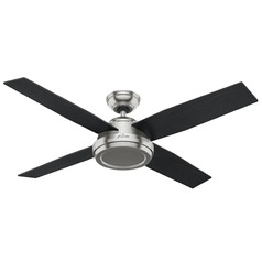 Hunter Fan Company Dempsey Brushed Nickel Ceiling Fan Without Light