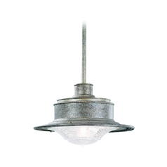 Troy Lighting Outdoor Hanging Light with Clear Glass in Old Rust Finish F9396OR