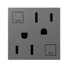 Tamper Resistant GFCI Outlet in Magnesium Finish