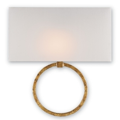 Currey and Company Lighting Gold Leaf Sconce