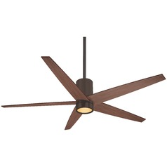 56-Inch Minka Aire Symbio Oil Rubbed Bronze LED Ceiling Fan with Light