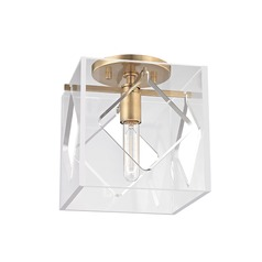 Hudson Valley Lighting Travis Aged Brass Flushmount Light