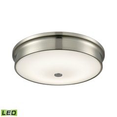 Alico Lighting Towne Satin Nickel LED Flushmount Light