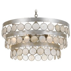 Crystorama Lighting Coco Antique Silver Pendant Light