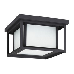 Sea Gull Lighting Hunnington Black LED Close To Ceiling Light