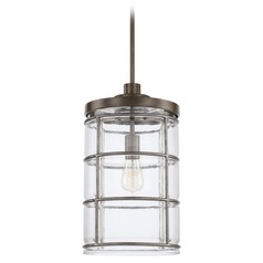 Capital Lighting Colby Urban Grey Pendant Light with Cylindrical Shade