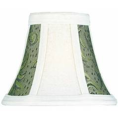 Brown Jacquard Bell Lamp Shade with Clip-On Assembly