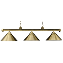 Modern Billiard Light in Antique Brass Finish