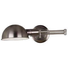 Modern Swing Arm Lamp in Antique Nickel Finish