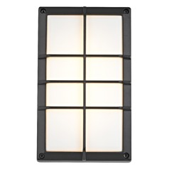 Black LED Outdoor Wall Light