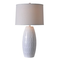 Kenroy Home Kinsley White Table Lamp with Drum Shade