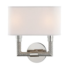 Hudson Valley Lighting Dubois Polished Nickel Sconce