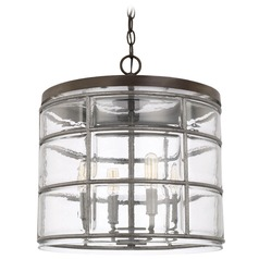 Capital Lighting Colby Urban Grey Pendant Light with Drum Shade