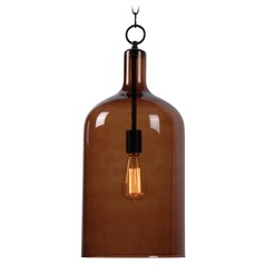 Mid-Century Modern Mini-Pendant Light Oil Rubbed Bronze Capri by Kenroy Home