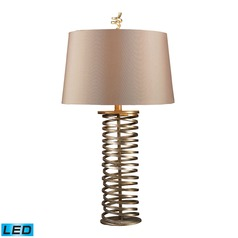 Dimond Lighting Santa Fe Muted Gold LED Table Lamp with Empire Shade